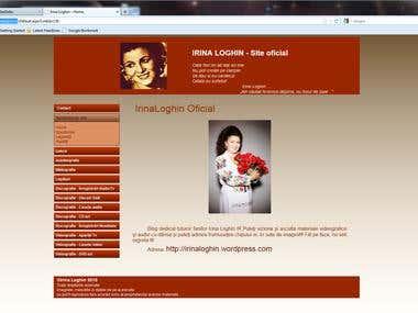 Site Irina Loghin
