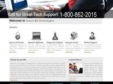 Remote PC Support Website