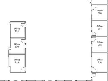 A Visio copy by a drawn floorplan
