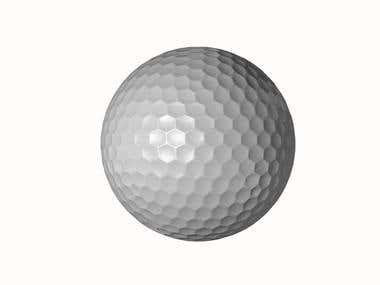 Golf Ball Renders