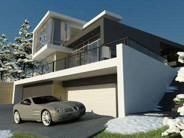 Exterior 3Ds Max project.