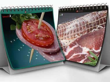 AM Produkt, packaging design, calendar and catalogue