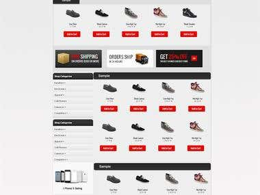 Sample Ecommerce Design
