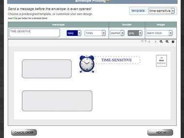 Envelope Printing - Live PDF Preview
