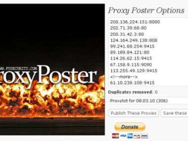 WordPress Plugin: Proxy Poster