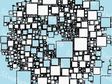 Geometrical square background