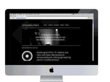 Website for Zimproduction