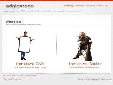 AD Gigs to Go - Website Design