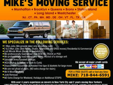 flyer for moving services
