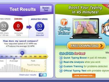 Typing Speed Test - 53 WPM