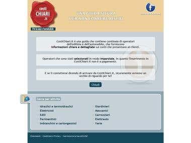 Complete SEO campaign for CostiChiari.it