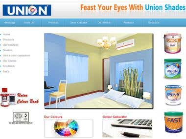 Union Paints - Website