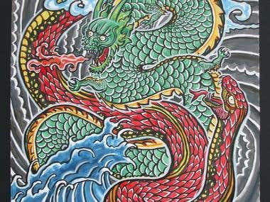 Dragon and Snake