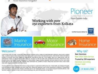 Website design for Insurance corporate