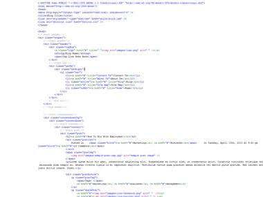 HTML Coding Style