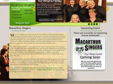 "Macarthur Singers ""Home"" page"