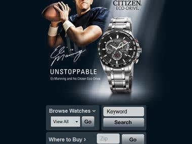 Citizen Watch,jQuery mobile Site