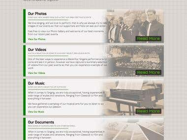 "Macarthur Singers ""Our Media"" page"