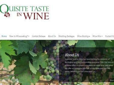 Wordpress site design exquisitetasteinwine.com