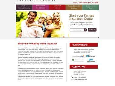 WS Insurance - PSD to Wordpress