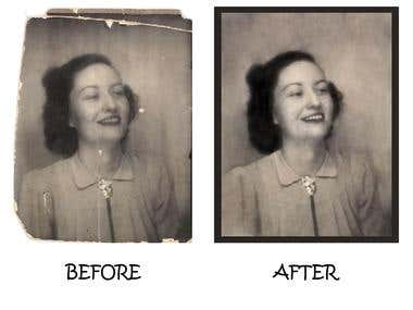 Photo restoration, Illustration and web template