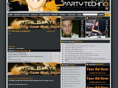 "Music Site ""Party Techno"""