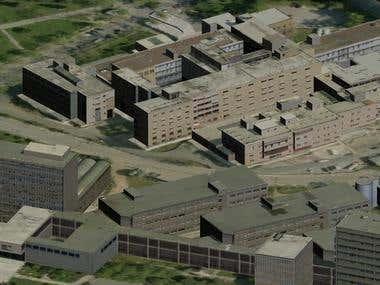 3D modelling + texturing Thessaloniki buildings