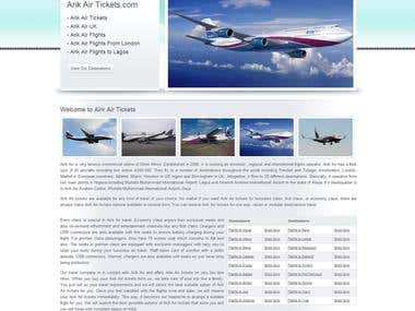 Arik Air Tickets Reservation Website