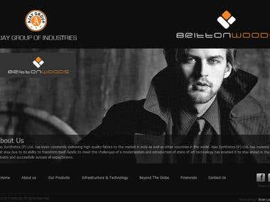 RR Suitings - Business Website