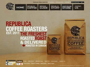 Republica Roasters - ecommerce Store