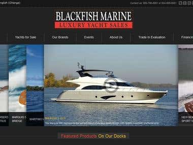 Black Fish Marine - Wordpress Website