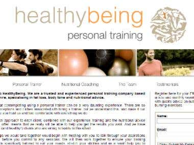 Gym/Fitness Website Design