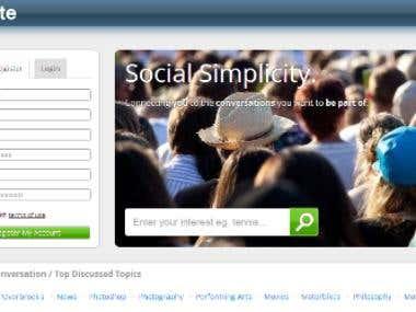 Social Networking Website Design