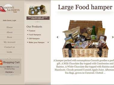 Cornish Hampers - Wordpress eCommerce Website