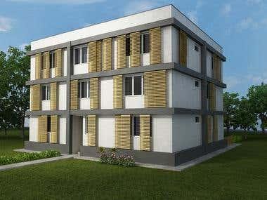 Apartment building - modular residential - Russia