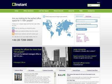 InstantOffices Web site + CRM