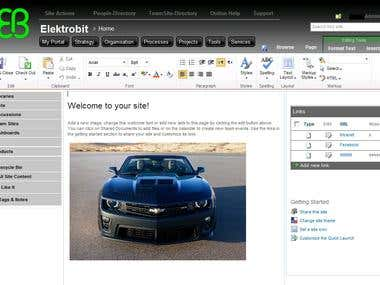 Corporate branded SharePoint intranet