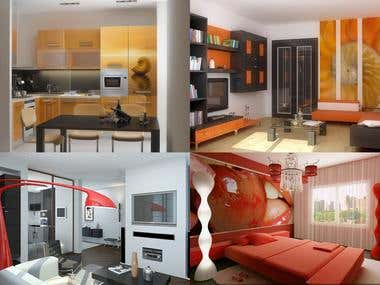The example of design, 3d modeling and visualization.