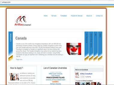 Almas Consultant Web Site
