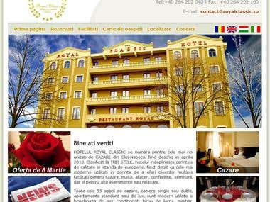 Royal Classic Hotel website
