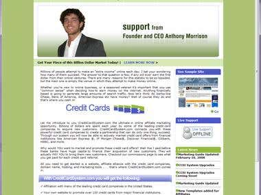 Affiliate marketing web app improvements