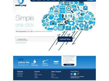 SendMyWay.Com PSD to HTML