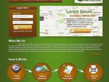 Website for MapAndPrint.com