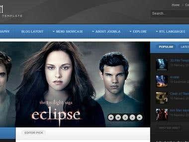 Joomla Movie Fan Site
