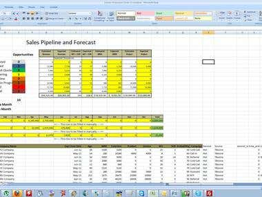 Excel Programming for Sales Pipeline Report