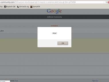 google adwords community cross site scripting