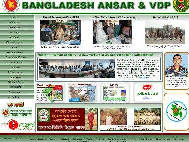 Website of Bangladesh Ansar-VDP