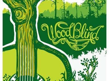 WoodBlind Logo & Poster Illustration