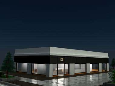 3d Shop And Parking Area Project
