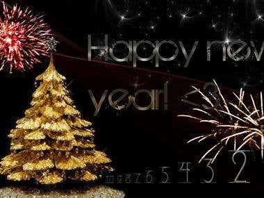 Happy new year poster ..